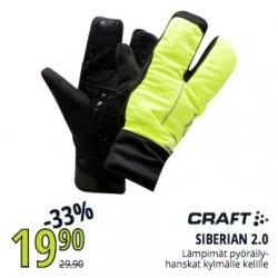 Craft Siberian 2.0 hanskat