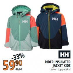 Helly Hansen Rider Insulated Jacket Kids, lasten toppatakki